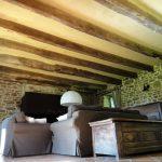 Plafond du salon des Longres de Keridy. Enduit monocouche Argilus naturel.