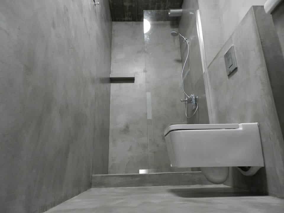 Микроцимент в баня
