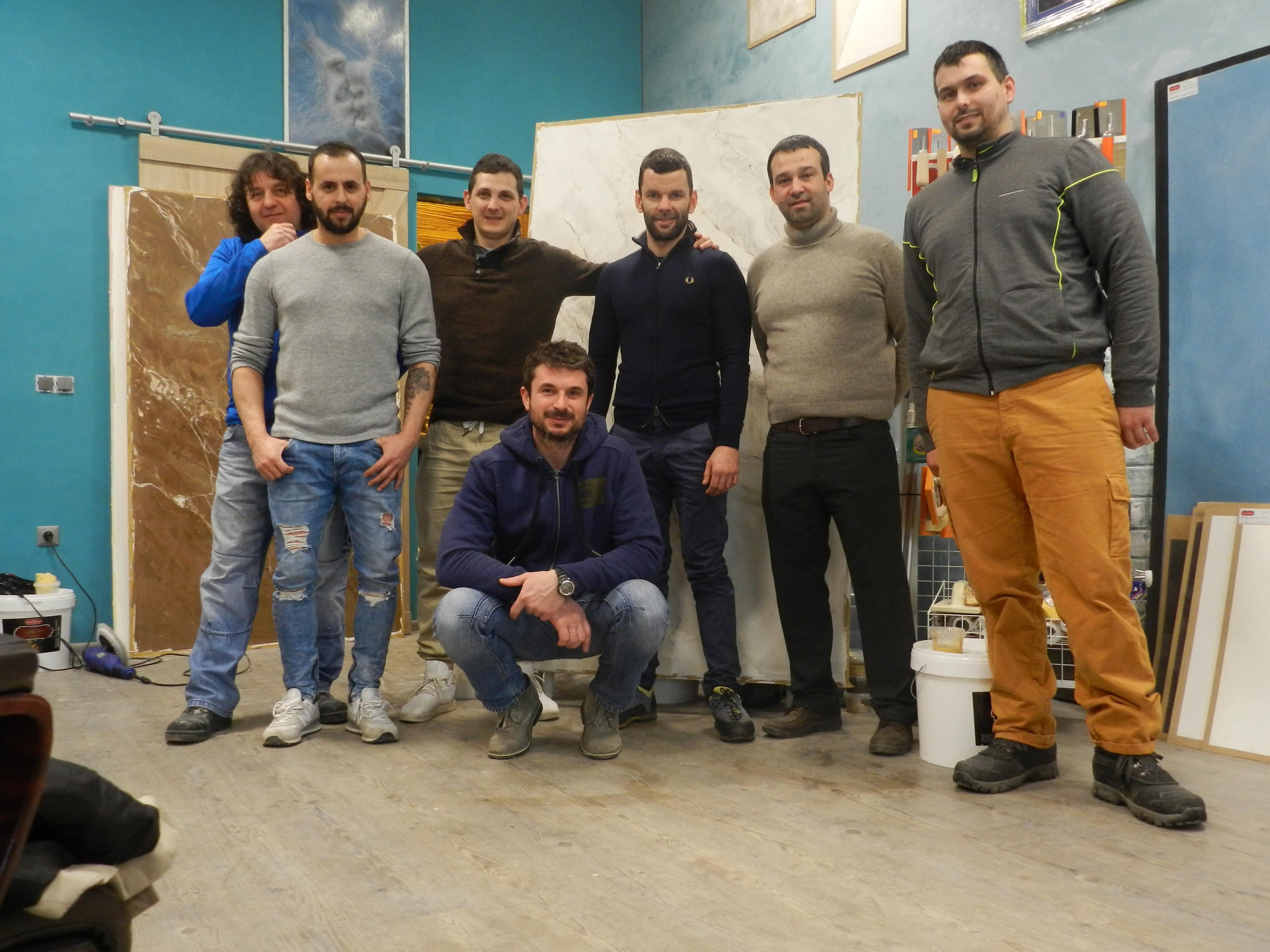 Майсторски курс за изработване на мраморна варова мазилка Февруари 2019